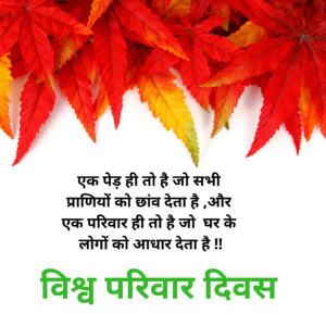 World Family Day Quotes in Hindi